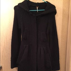 Free People | Long Black Sweater | Size Small